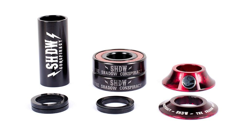Roulements pédalier Shadow Stacked Mid Bottom Bracket 22 mm Red Tye Die