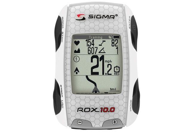 Ordinateur cycliste Sigma Rox 10.0 GPS Basic Blanc