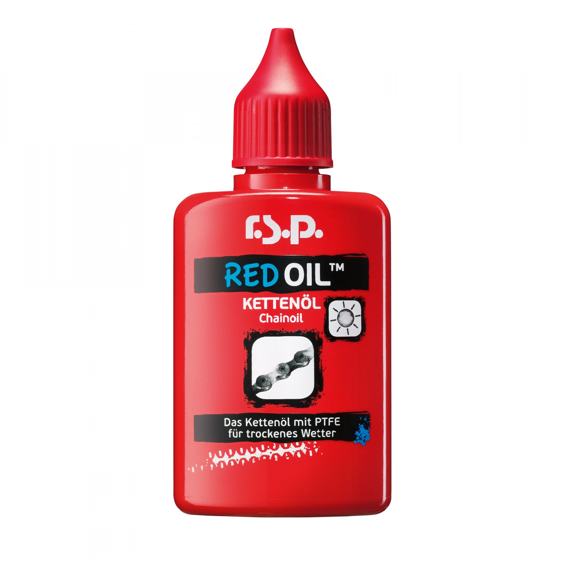 Lubrifiant chaîne r.s.p. Red Oil au Teflon 50 ml