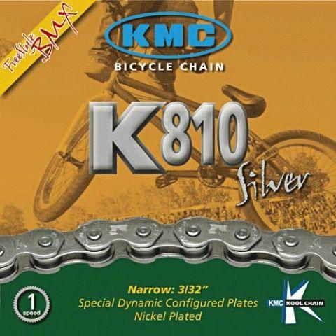 Chaîne KMC K810 Silver Kool Serie 3/32\
