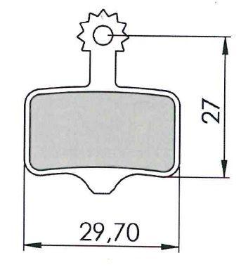 Plaquettes de frein 04 Clarks Exotherm comp. Avid Elixir / SRAM XX Organique