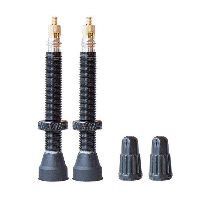 Valves tubeless SB3 alu 44 mm (paire) Noir