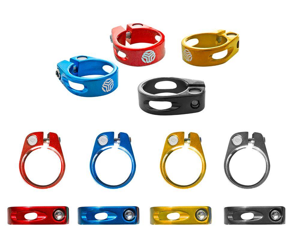 Collier de serrage à visser SB3 Unicolor 31.6 mm (Coloris au choix) - Noir