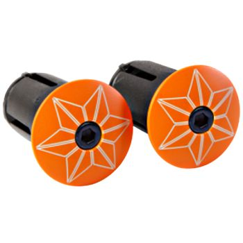 Bouchons de cintre Supacaz Star Plugz Orange Fluo