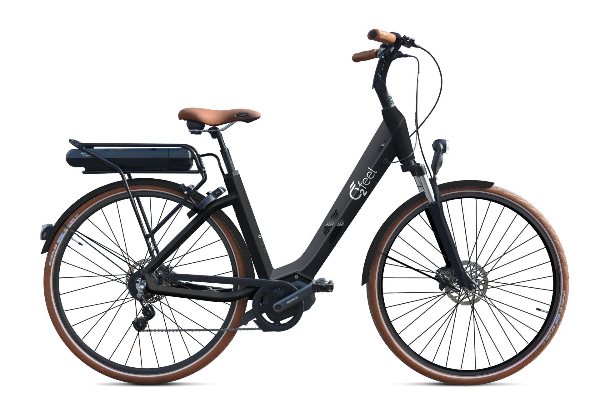 Vélo électrique O2Feel Swan Nexus 8V / 28 pouces Noir