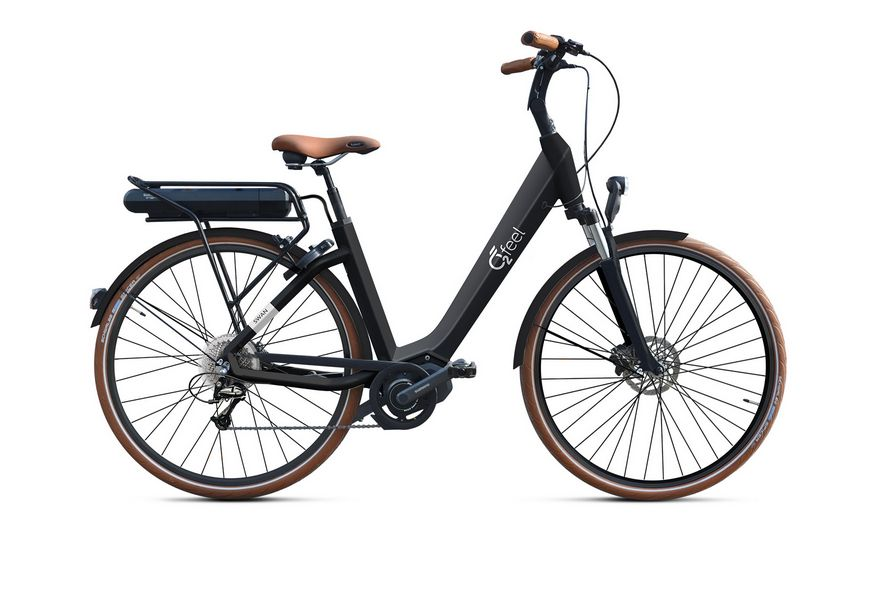 Vélo électrique O2Feel Swan Deore 9V / 26 pouces Noir