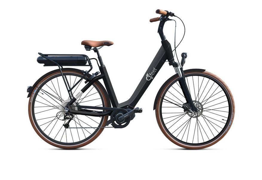 Vélo électrique O2Feel Swan Deore 9V / 28 pouces Noir