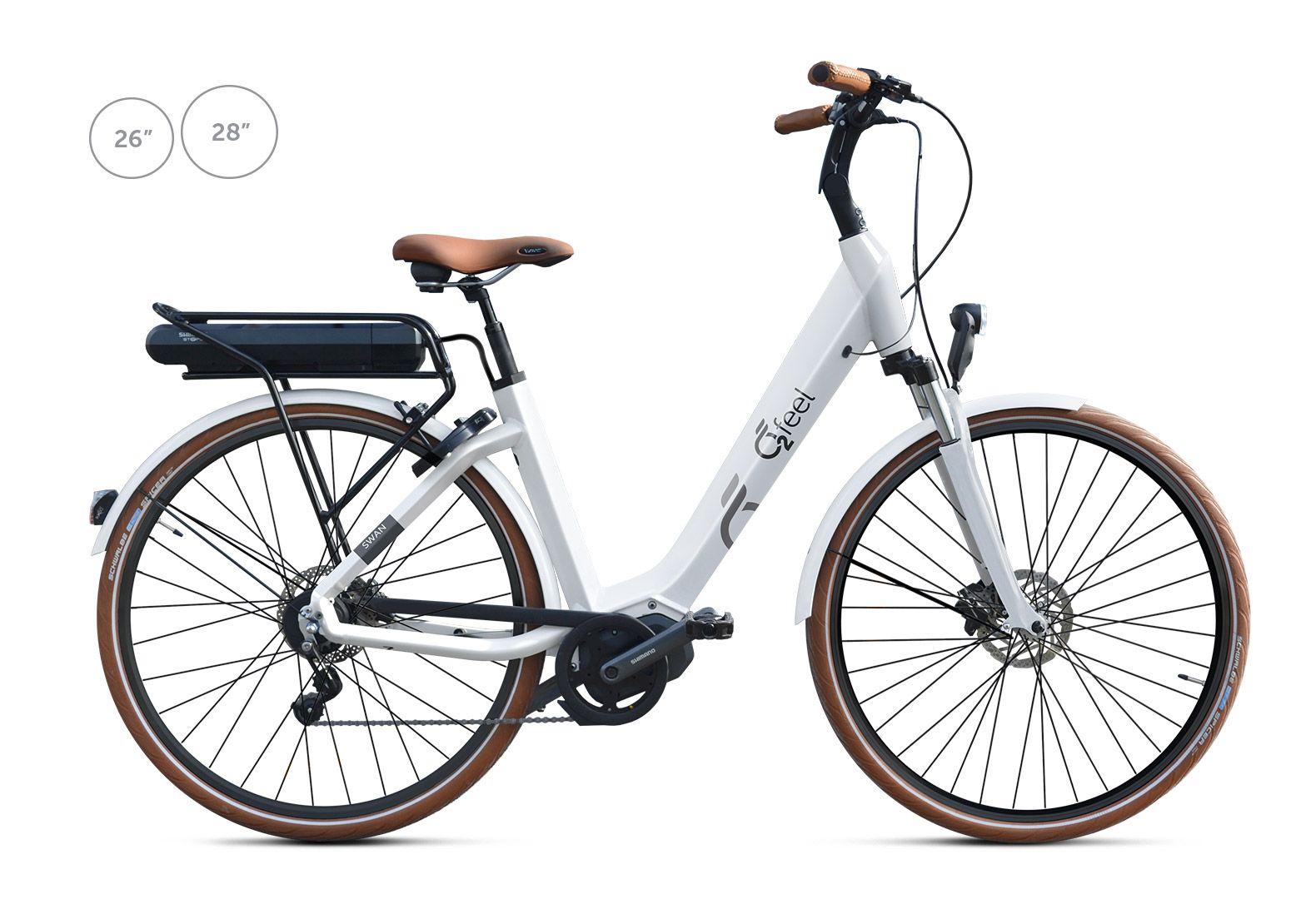 Vélo électrique O2Feel Swan Di Alfine 8 / 26 pouces Blanc