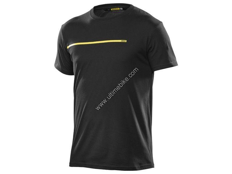 T-shirt Femme Mavic La Bande Jaune Noir - XL