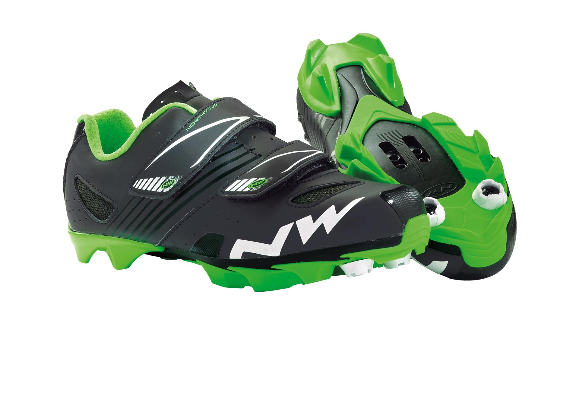 Chaussures Northwave Hammer Junior Noir mat/Vert - 32
