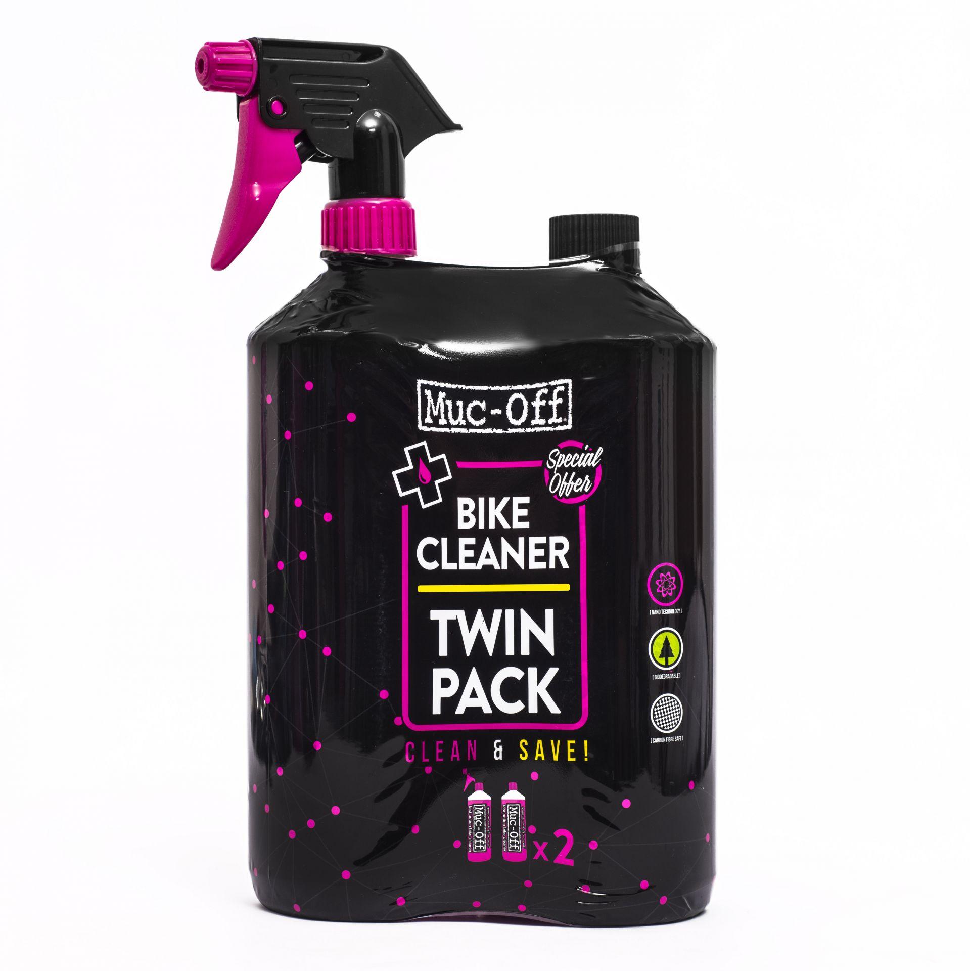 Nettoyant pour vélo Muc-Off Nano Tech Bike Cleaner Pack 2x 1 L + Pistolet