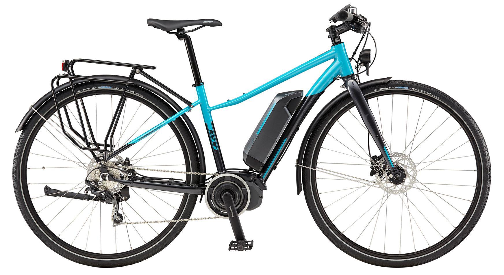 Vélo électrique GT eTraffic AMP Step-Thru WMN Bleu - S