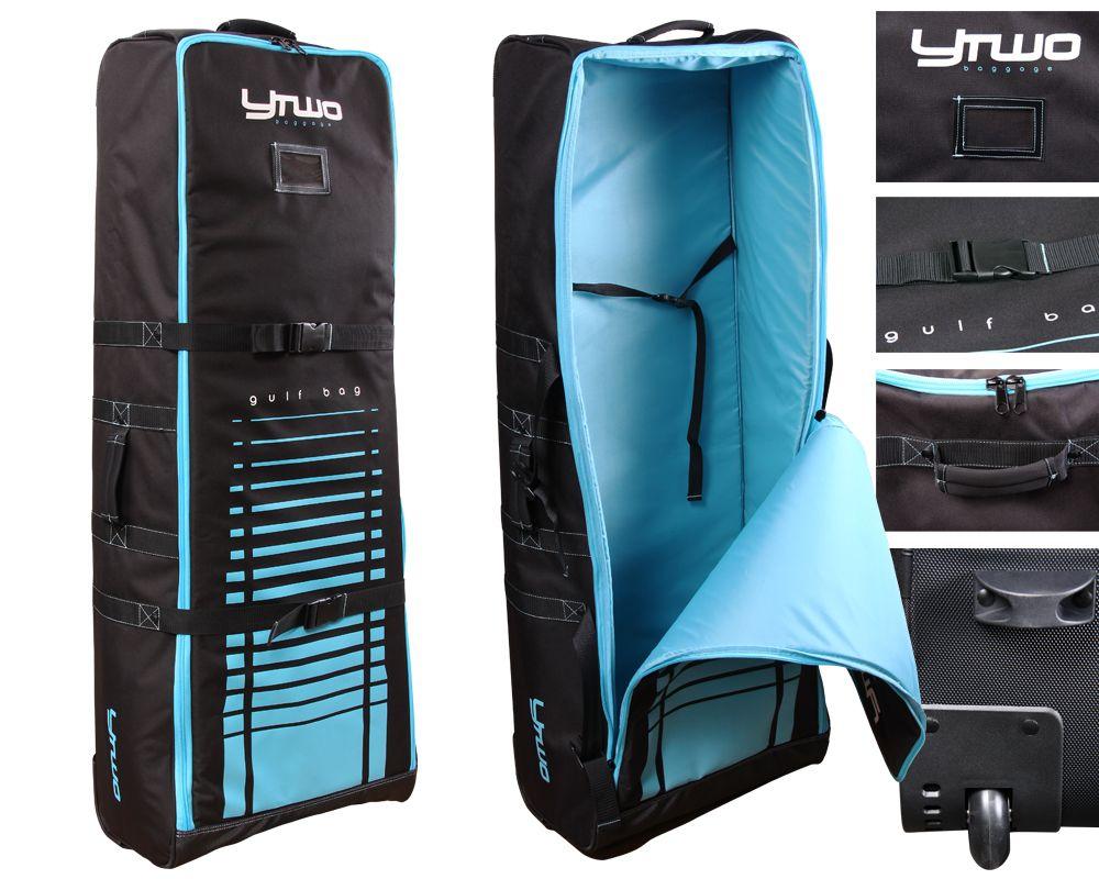 Housse de transport BMX Ytwo Gulf Bag à roulettes Noir/Bleu